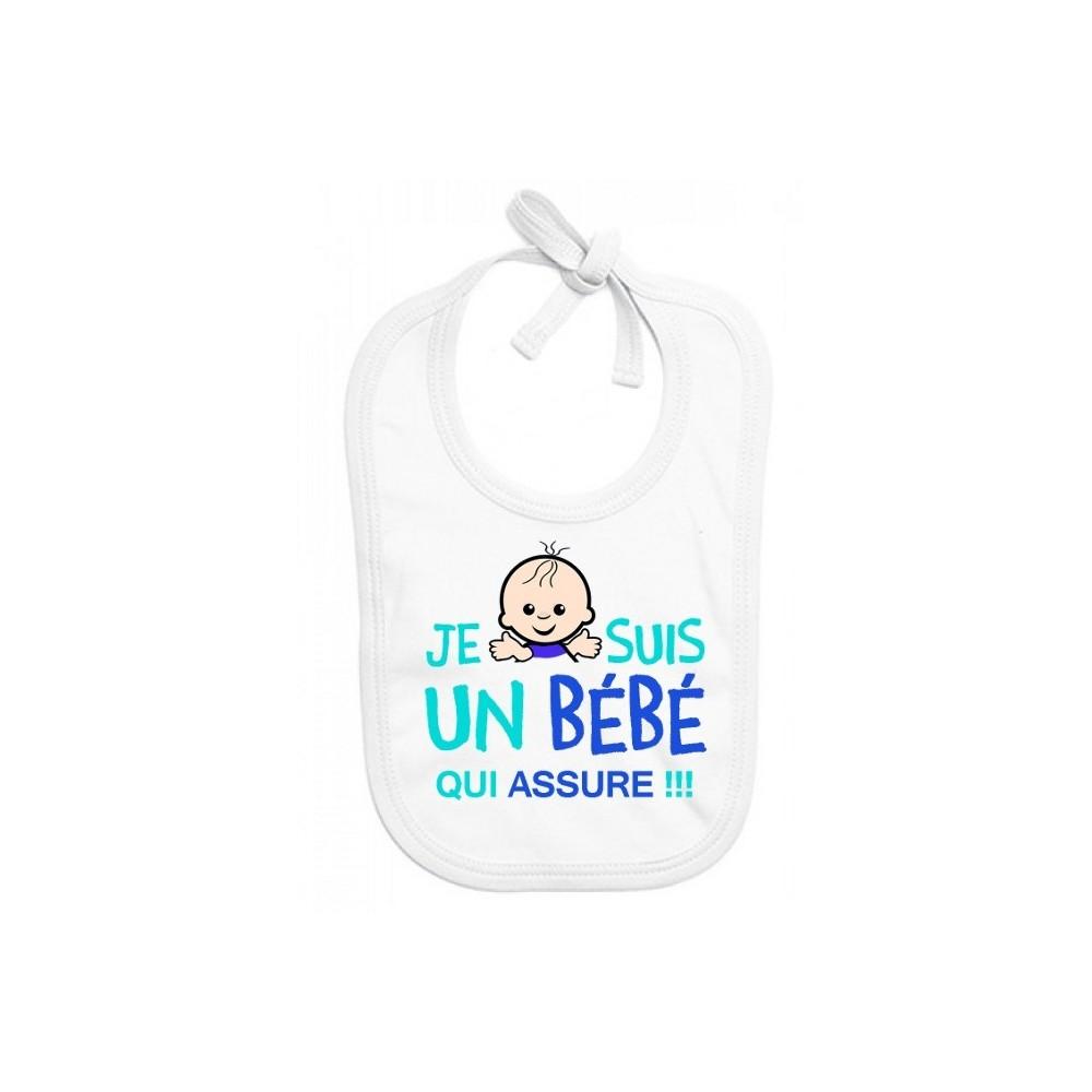 Bavoir bébé Je suis un bébé qui assure