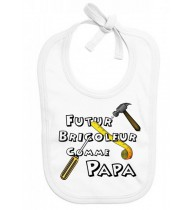 Bavoir bébé Futur bricoleur comme papa