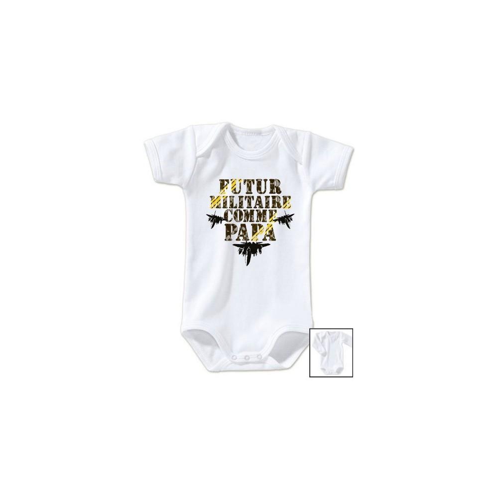 Body bébé Futur militaire comme papa