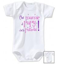Body bébé Chez papy et mamie c'est le paradis
