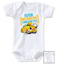 Body bébé Futur mécanicien comme papa
