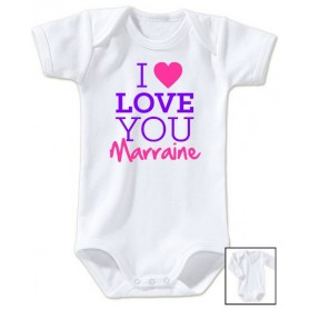 Body bébé I love you marraine