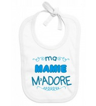 Bavoir bébé Mamie m'adore