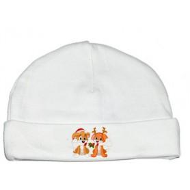 Bonnet bébé Chien Chat Noël