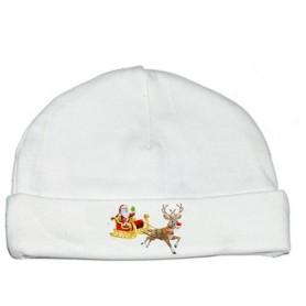 Bonnet bébé Traineau Noël