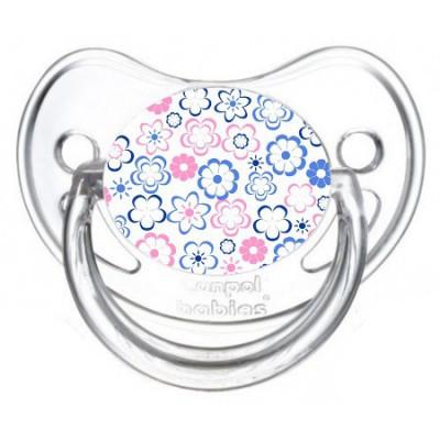Tétine de bébé fleur bleu