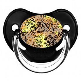 Tétine de bébé leopard