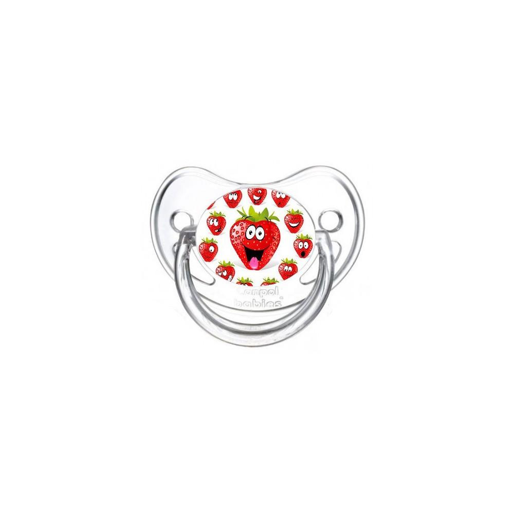 Tétine de bébé fraise