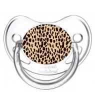 Tétine de bébé léopard orange