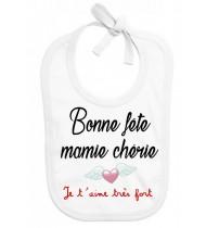 Bavoir bébé Bonne fête mamie chérie