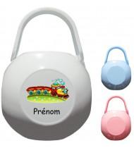Boîte à tétine personnalisée Train Prénom