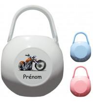 Boîte à tétine personnalisée Moto Prénom