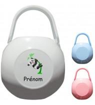 Boîte à tétine personnalisée Panda Prénom