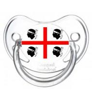 Tétine personnalisée drapeau Sardaigne