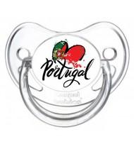Tétine personnalisée I love Portugal coeur