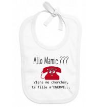 Bavoir bébé Allo mamie