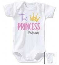 Body personnalisé The Princess prénom