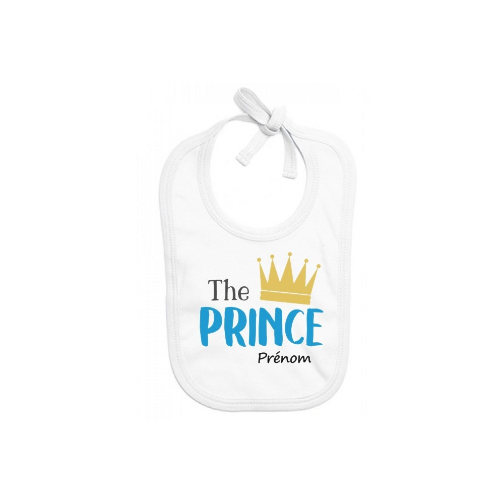 Bavoir personnalisé The Prince prénom