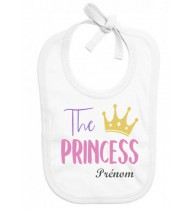 Bavoir personnalisé The Princess prénom