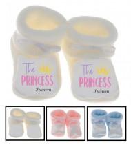 Chaussons bébé  The Princess prénom personnalisés