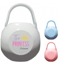 Boîte à tétine personnalisée The Princess Prénom