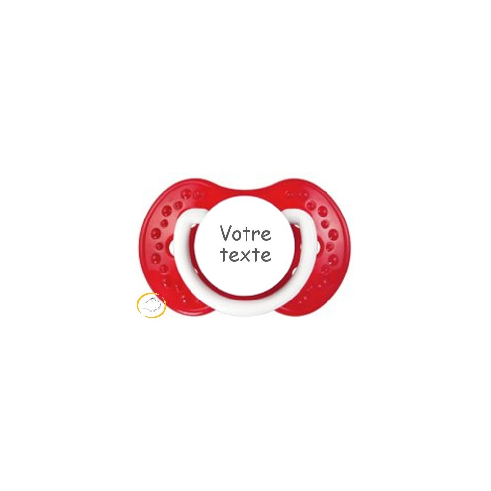Tétine personnalisée rouge Matelot
