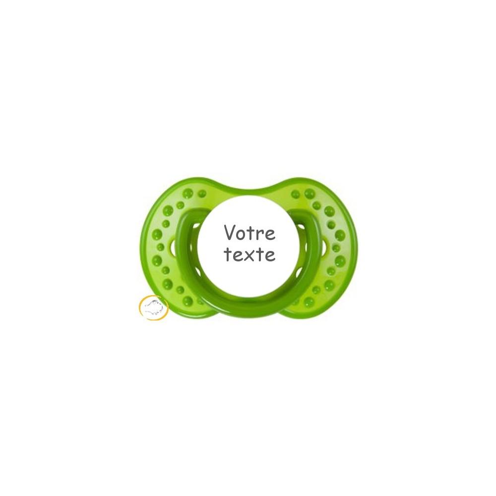 Tétine personnalisée verte Spark