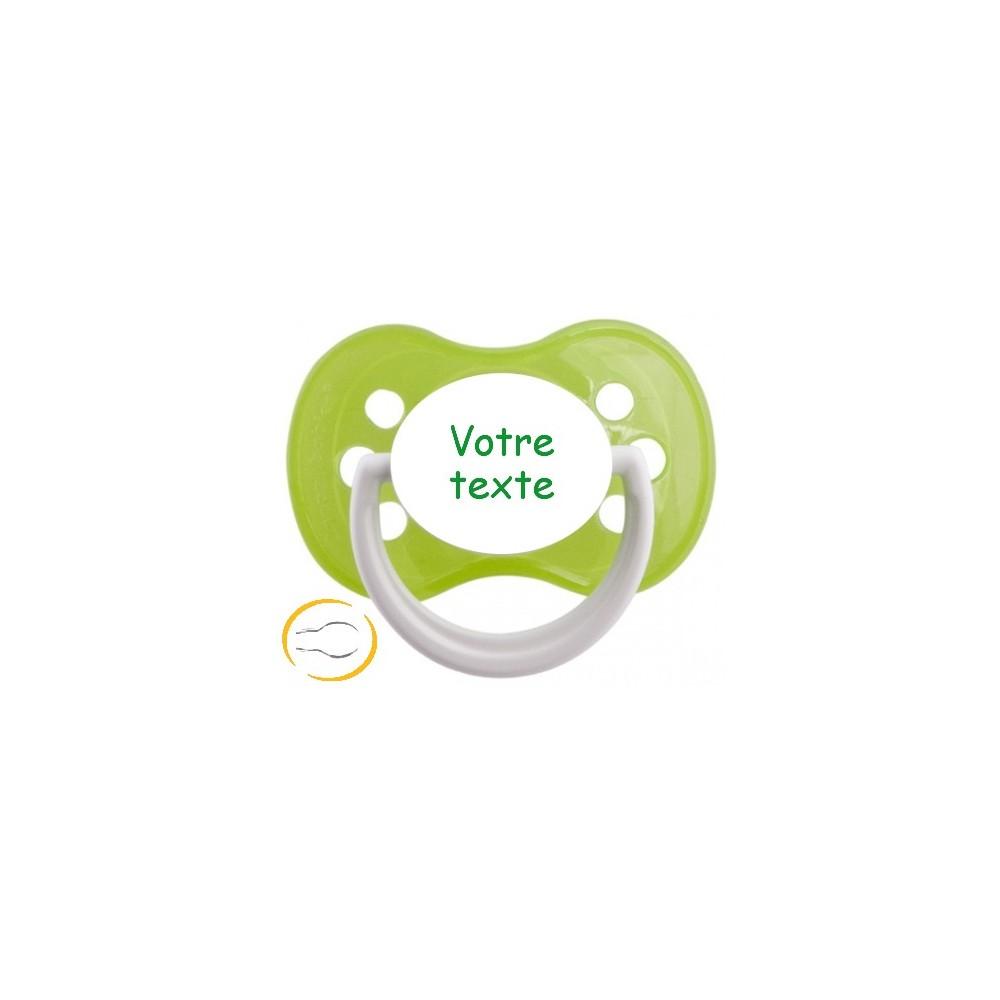 Tétine personnalisée funny verte