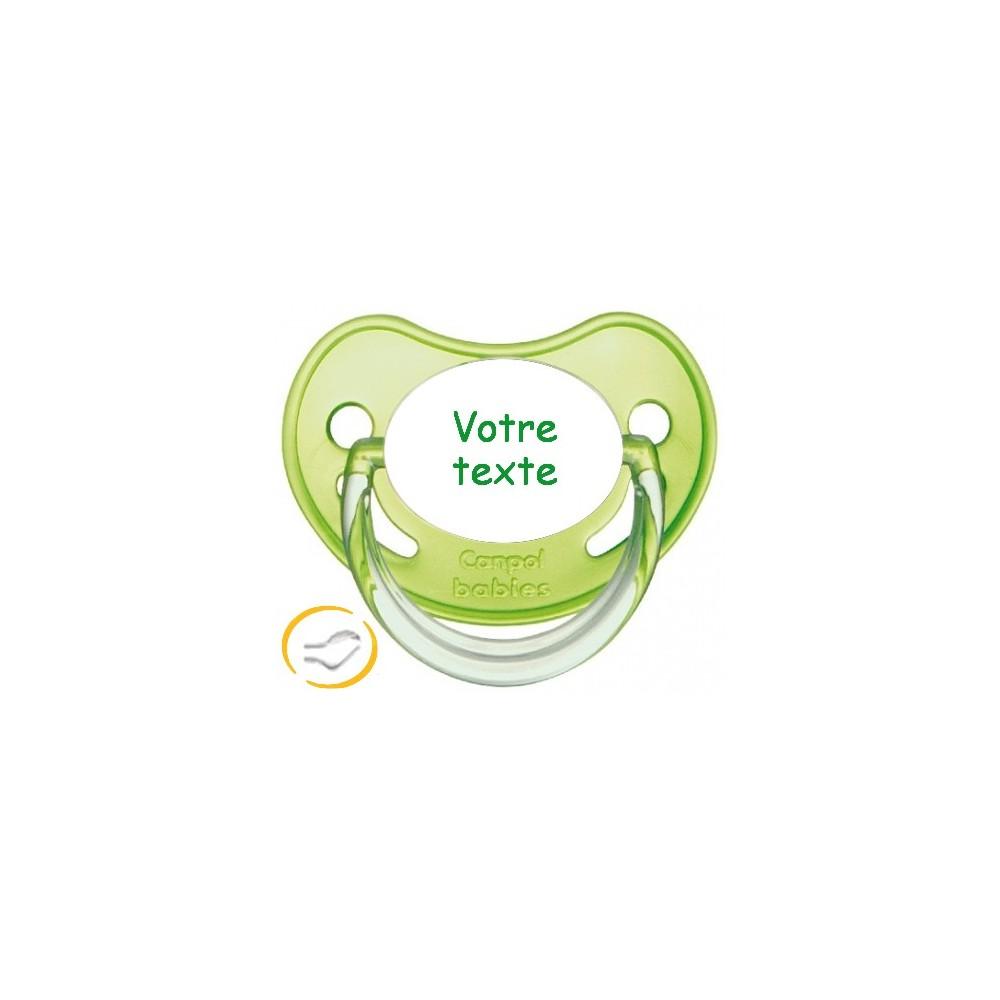 Tétine personnalisée chupa verte
