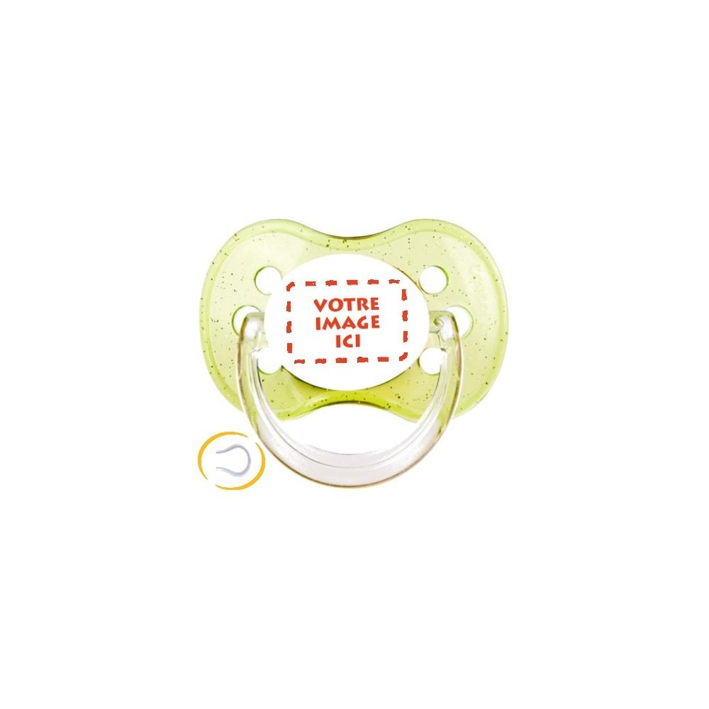 Tétine personnalisée photo Cerise vert