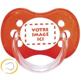 Tétine personnalisée photo Cerise rouge