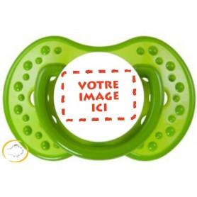 Tétine personnalisée photo Spark verte