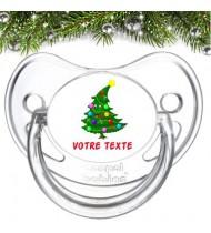 "Tétine bébé personnalisée ""Sapin Noël"""