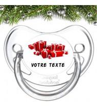 """Tétine bébé personnalisée """"Cadeaux"""""""