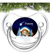 Tétine personnalisée Crèche Noël