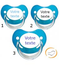 Lot de 3 Tétines personnalisées chupa bleu (physiologique)