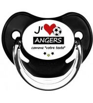Tétine foot personnalisée J'aime Angers