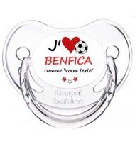 Tétine foot personnalisée J'aime Benfica