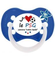 Tétine foot personnalisée J'aime le PSG
