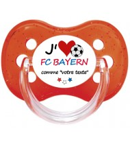 Tétine foot personnalisée J'aime FC Bayern