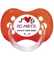 Tétine foot personnalisée J'aime FC Metz
