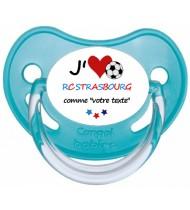 Tétine foot personnalisée J'aime RC Strasbourg
