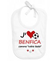 Bavoir bébé foot J'aime Benfica