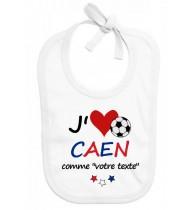 Bavoir bébé foot J'aime Caen