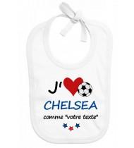 Bavoir bébé foot J'aime Chelsea