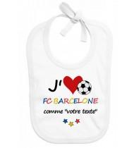 Bavoir bébé foot J'aime FC Barcelone