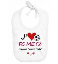 Bavoir bébé foot J'aime FC Metz