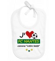 Bavoir bébé foot J'aime FC Nantes