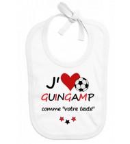 Bavoir bébé foot J'aime Guingamp