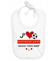 Bavoir bébé foot J'aime Olympique Lyonnais